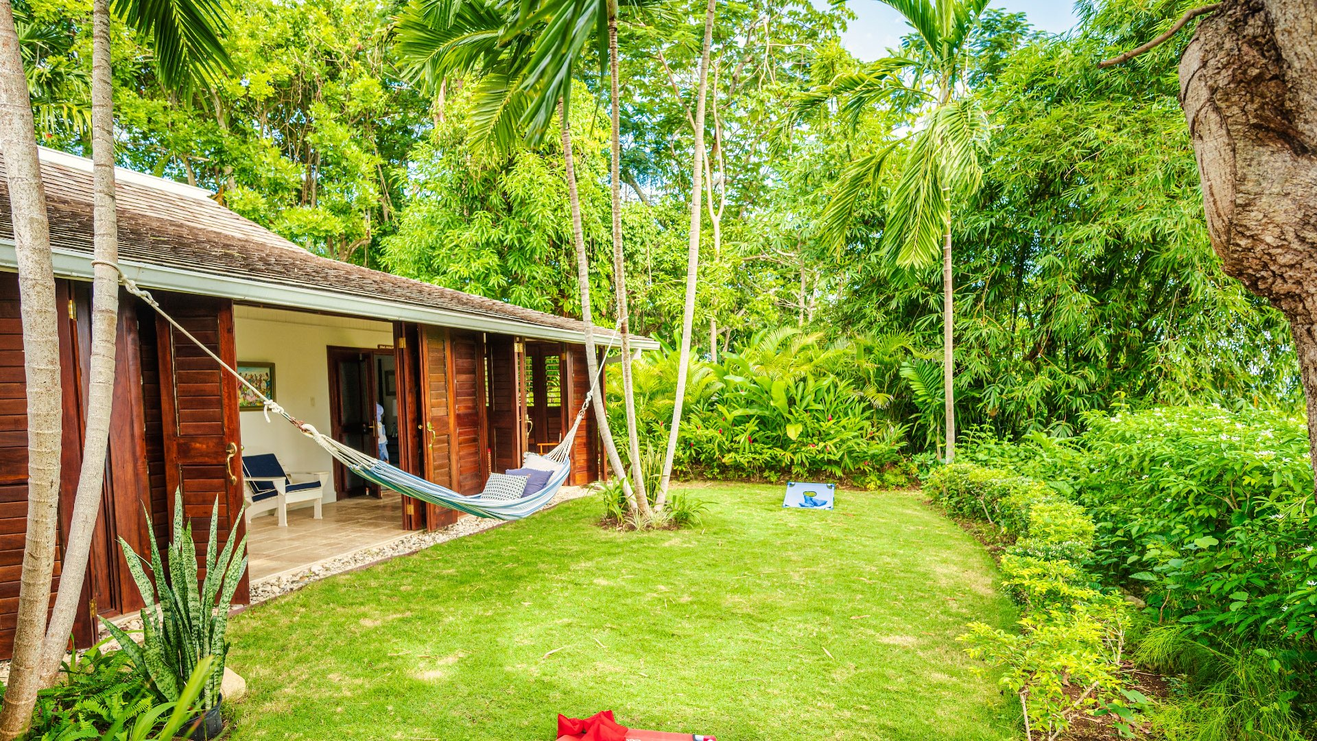 Back Area of Coconut Cottage Villa