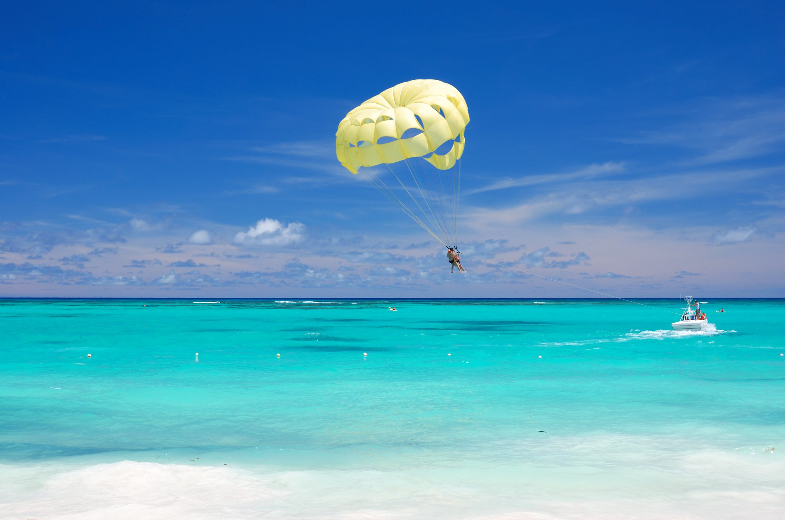 Parasailing at Round Hill Resort Jamaica
