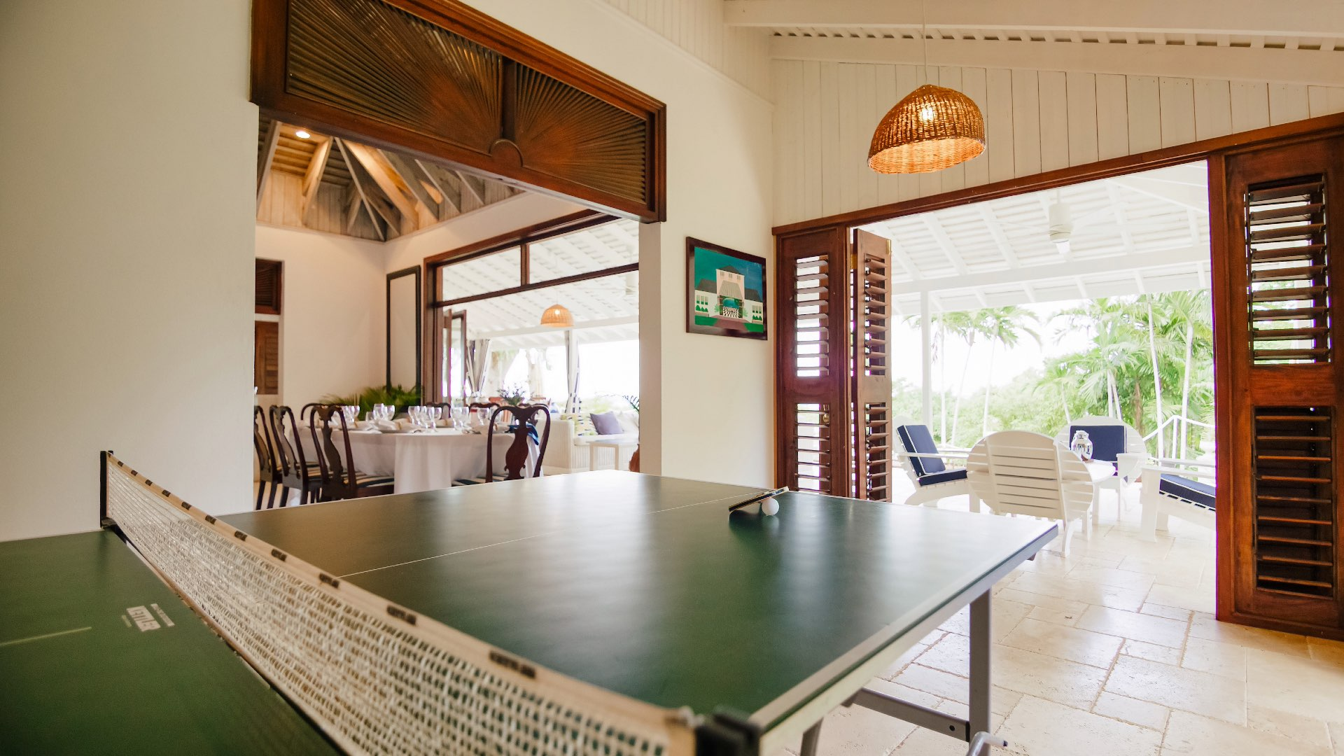 Ping Pong and Amenities at Coconut Cottage