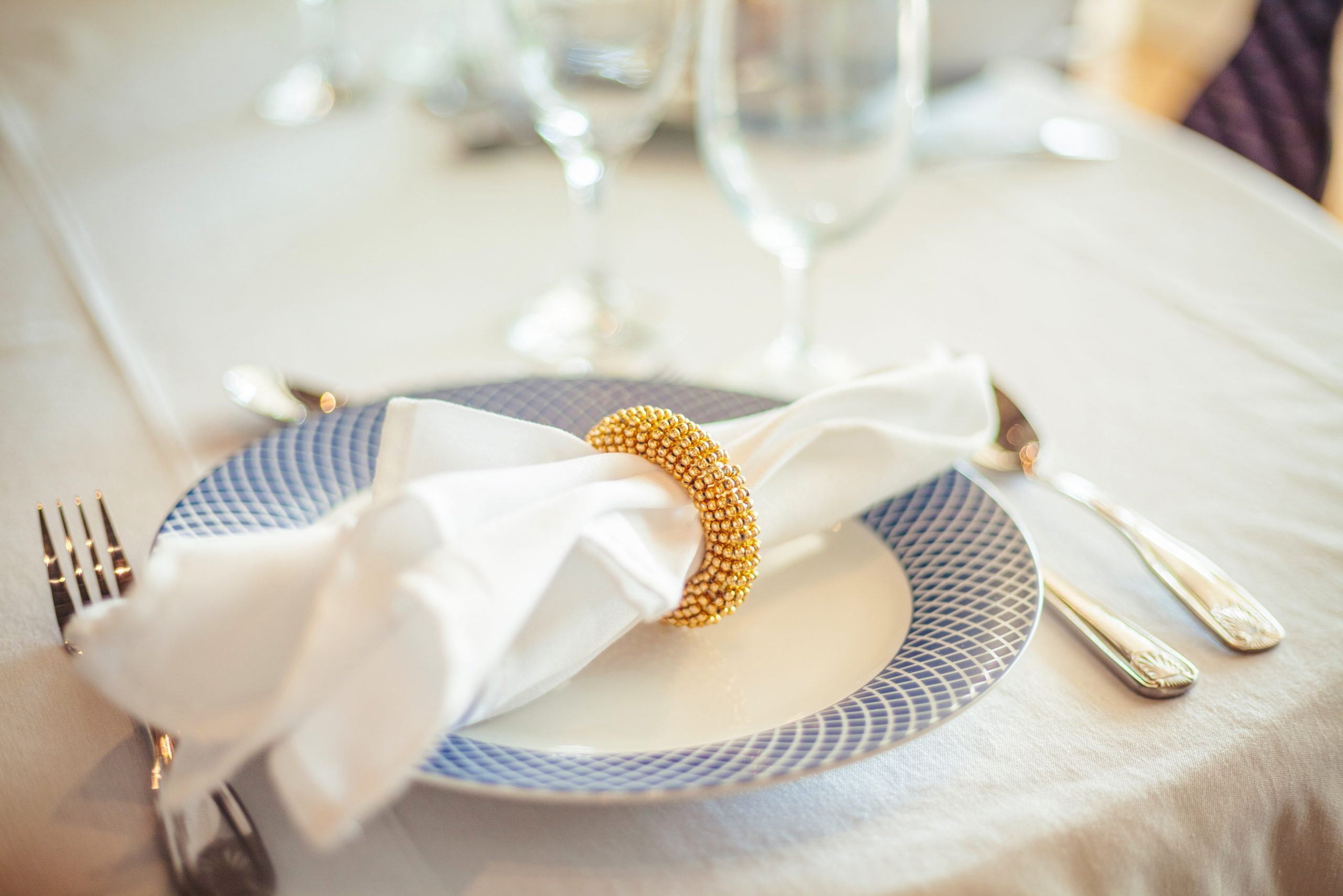 Place Setting at Private Villa